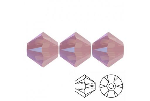 Bicono Swarovski 5328 Rose Water Opal Shimmer 4mm - 20pz