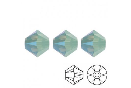 Bicono Swarovski 5328 Chrysolite Opal Shimmer 3mm - 20pz