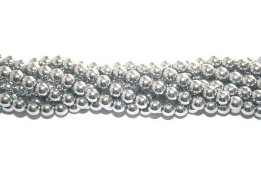 Pietre Dure Hematite Sfera - Argento 8mm - 48pz