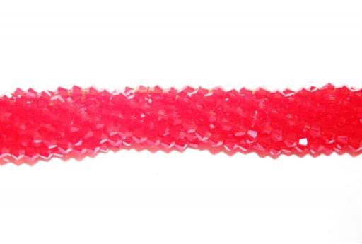 Cristallo Cinese Bicono Rosso 4mm - 110pz
