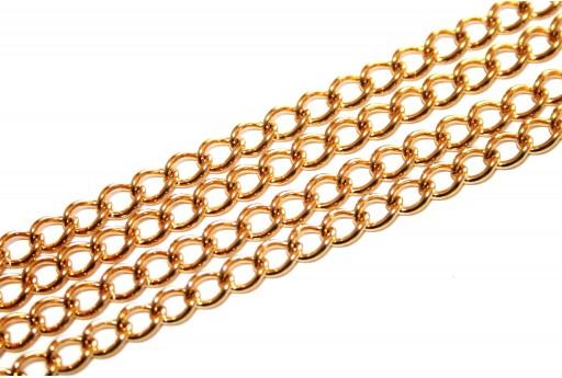 Catena Acciaio Ovale - Oro 5x3,5mm - 50cm