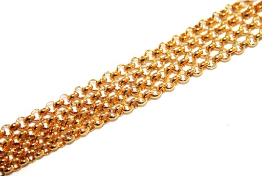 Gold Plated Steel Chain Rolo 2,5x0,8mm - 50cm