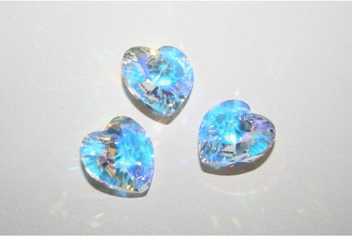 Swarovski Heart Pendant 14,4x14mm Crystal AB - 2pcs