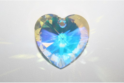 Swarovski Heart Pendant 28mm Crystal AB 6228