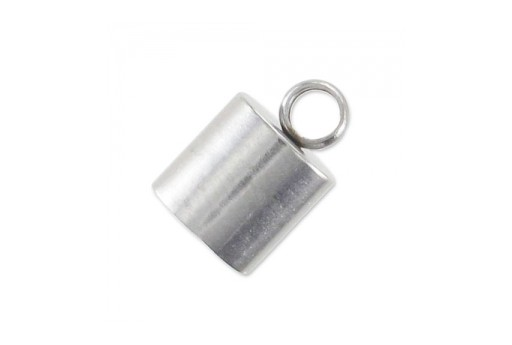 Steel Cord End Caps 10x6mm - Hole 5mm - 2pcs