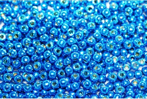 Toho Seed Beads Permafinish Galvanized Denim Blue 11/0 - 10g