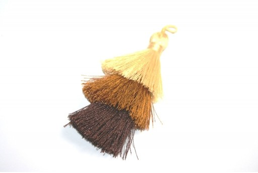 Triple Tassel Brown 70mm - 1pcs