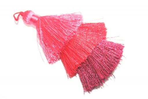 Triple Tassel Red 70mm - 1pcs