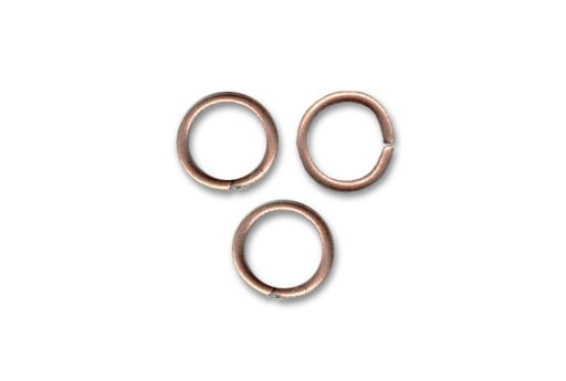 Brass Jump Ring Rose Gold 7x1,2mm - 30pcs
