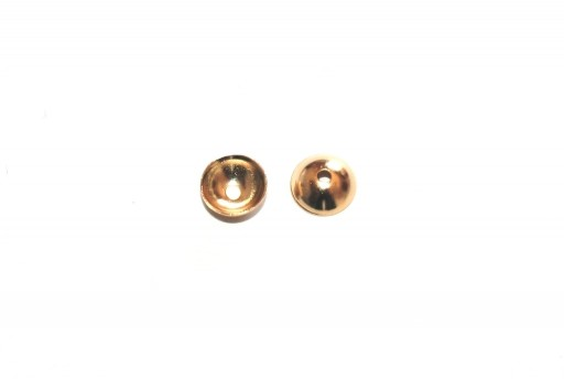 Stainless Steel Bead Caps - Gold 6mm - 10pcs
