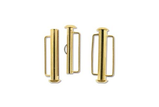 Gold Plated Slide Bar Clasp - 26,5mm