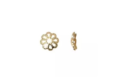 Gold Plated Bead Caps 10mm - 40pcs