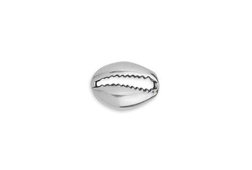Link Conchiglia di Ciprea - Argento 9,6x6,9mm - 4pz
