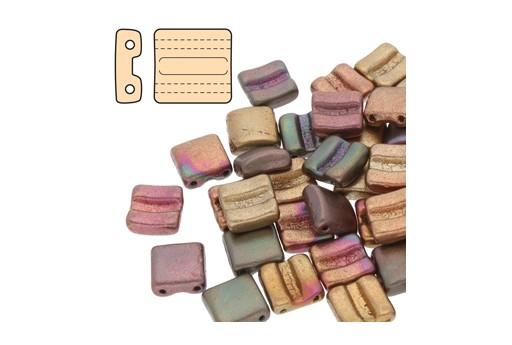 Perline Vetro Fixer Violet Rainbow 8x7mm - Fori Orizzontali - 5gr