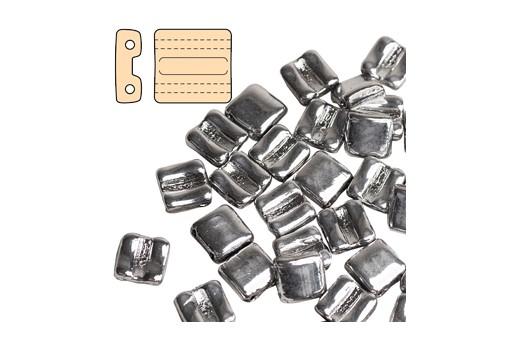 Fixer Czech Glass Bead Crystal Full Labrador 8x7mm - Horizontal Holes - 5gr