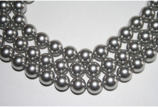 Swarovski Pearls Light Grey 5810 10mm - 4pcs