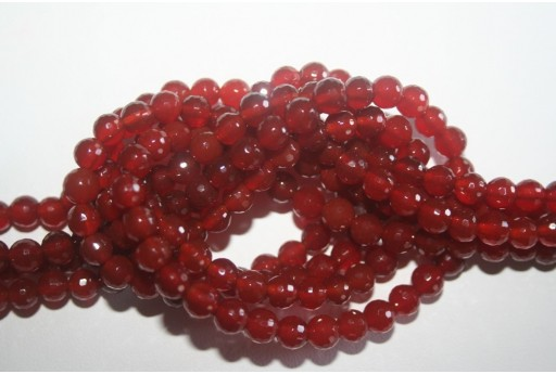 Cornelian Beads Sphere 128 Faces 6mm - 64pz