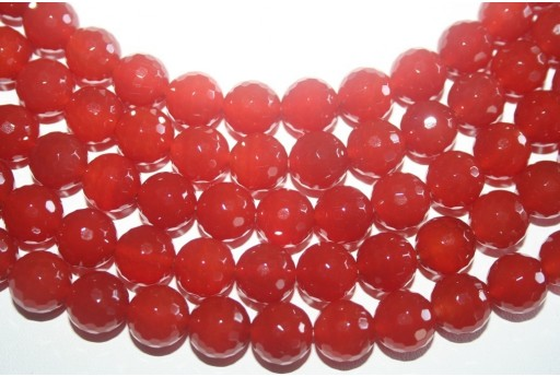 Cornelian Beads Sphere 128 Faces 12mm - 2pz