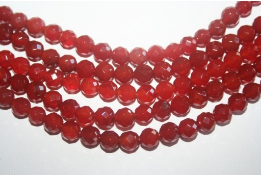 Cornelian Beads Sphere 64 Faces 8mm - 48pz