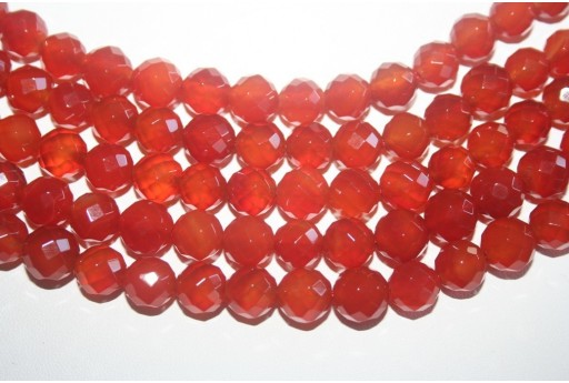 Cornelian Beads Sphere 64 Faces 10mm - 38pz