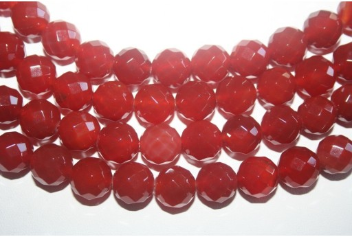 Cornelian Beads Sphere 64 Faces 12mm - 32pz