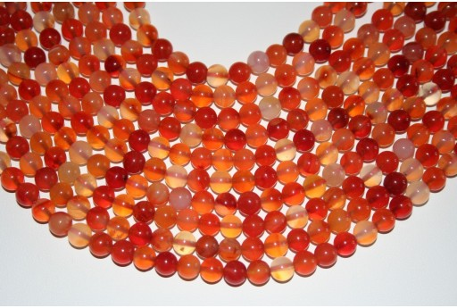 Cornelian Beads Natural Sphere 6mm - 64pz