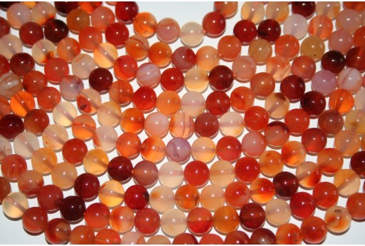 Cornelian Beads Natural Sphere 8mm - 48pz