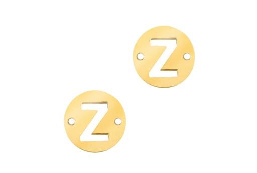 Link Acciaio Lettera Z - Oro 10mm - 2pz