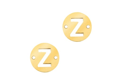 Stainless Steel Charms Connector Letter Z - Gold 10mm - 2pcs