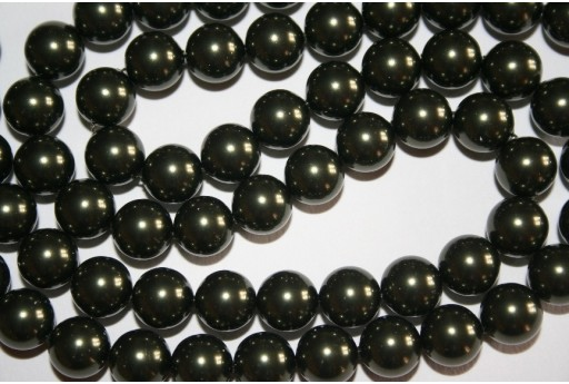 Swarovski Pearls Dark Green 5810 10mm - 4pcs