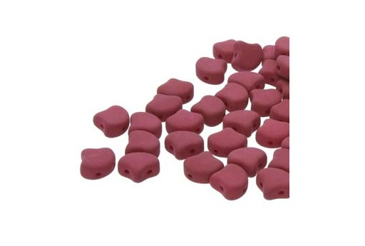 Czech Glass Ginko Beads - Matte Velvet Purple Wine 7,5mm - Pack 100gr