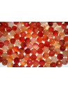 Cornelian Beads Natural Faceted Sphere 10mm - 38pz
