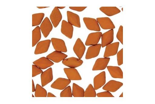 Perline GemDuo Confezione Ingrosso - Matte Velvet Carrot 8x5mm - 100gr