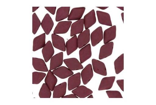 GemDuo Beads - Matte Velvet Maroon 8x5mm - 10gr