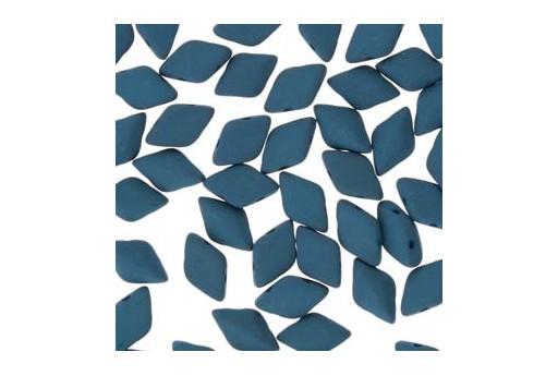 Perline GemDuo Confezione Ingrosso - Matte Velvet Dark Teal 8x5mm - 100gr