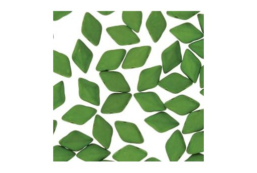 Perline GemDuo - Matte Velvet Lizard Green 8x5mm - 10gr