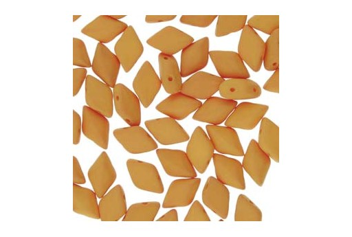 GemDuo Beads - Matte Velvet Mustard 8x5mm - Pack 100gr