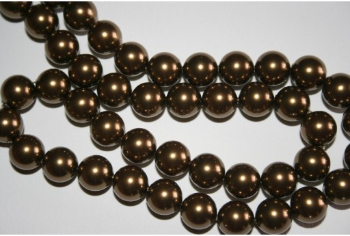 Swarovski Pearls Antique Brass 5810 10mm - 4pcs