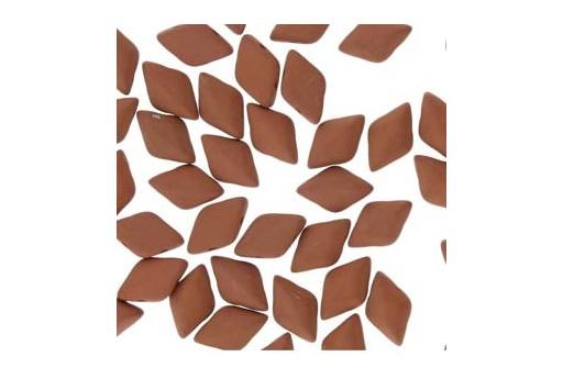Perline GemDuo Confezione Ingrosso - Matte Velvet Brick 8x5mm - 100gr