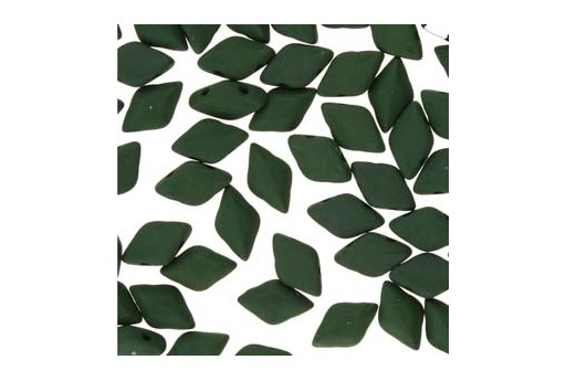 GemDuo Beads - Matte Velvet Forest Green 8x5mm - 10gr