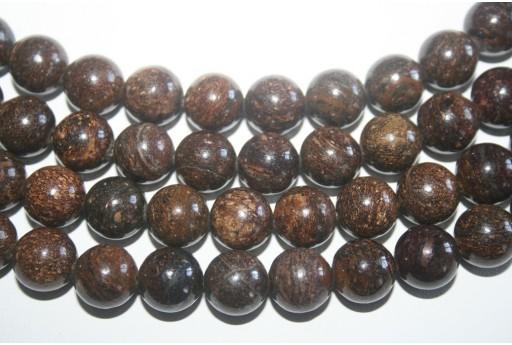 Filo 32 Pietre Bronzite Sfera 12mm