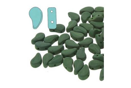 Perline Paisley Duo Matte Velvet Forest Green 8x5mm - 100gr