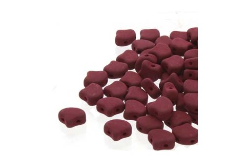 Czech Glass Ginko Beads - Matte Velvet Maroon 7,5mm - Pack 100gr