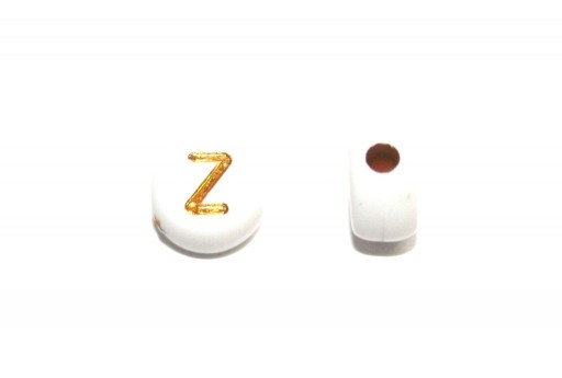 Plating Acrylic Beads - Letter Z 7x4mm - 20pcs