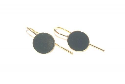 Brass Earring Hooks Golden - Tray 10mm - 4pcs