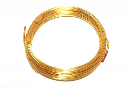 Golden Aluminum Wire - Diameter 3,0mm - 5mt