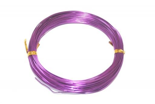 Filo Alluminio - Viola 3mm - 5mt