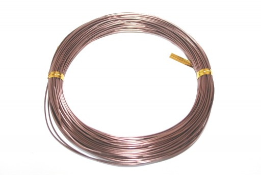 Brown Aluminum Wire - Diameter 3,0mm - 5mt