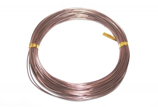 Filo Alluminio - Marrone 3mm - 5mt