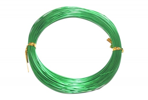 Green Aluminum Wire - Diameter 3,0mm - 5mt